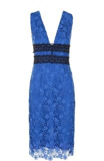 Кружевное облегающее платье с V-образным вырезом Diane Von Furstenberg