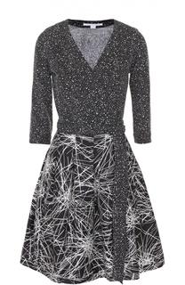 Приталенное мини-платье с укороченным рукавом Diane Von Furstenberg