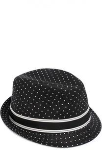 Хлопковая шляпа трилби с узором Polka Dot Dolce & Gabbana