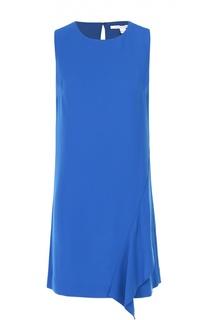 Мини-платье прямого кроя с оборкой Diane Von Furstenberg