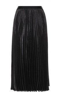 Плиссированная юбка-миди с металлизированной отделкой Diane Von Furstenberg
