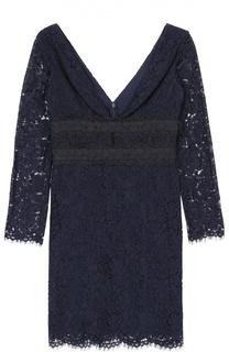 Кружевное мини-платье с глубоким V-образным вырезом Diane Von Furstenberg