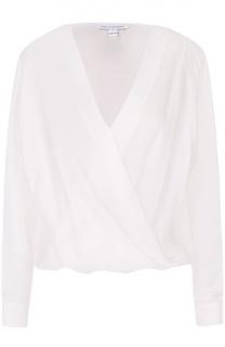 Шелковая блуза свободного кроя с V-образным вырезом Diane Von Furstenberg