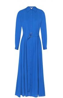 Шелковое платье-рубашка с поясом и карманами Diane Von Furstenberg