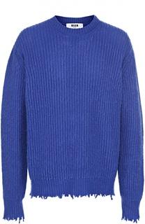 Шерстяной свитер с необработанными краями MSGM