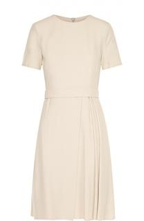 Приталенное платье с поясом и защипами HUGO