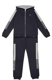 Хлопковый спортивный костюм Giorgio Armani