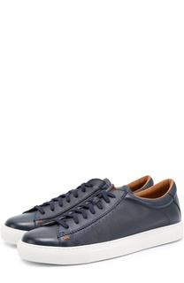 Кожаные кеды на шнуровке H`D`S`N Baracco