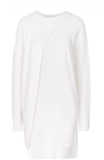 Удлиненный пуловер свободного кроя с круглым вырезом DKNY