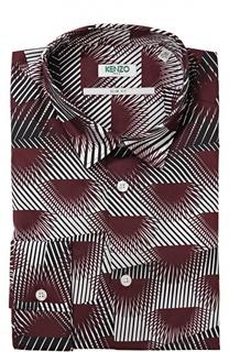Хлопковая приталенная сорочка с принтом Kenzo