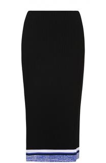 Вязаная юбка-карандаш с контрастной отделкой и высоким разрезом Rag&Bone Rag&Bone