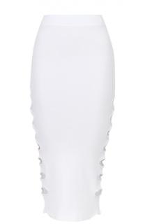 Вязаная юбка-карандаш с декоративными разрезами Alice McCall