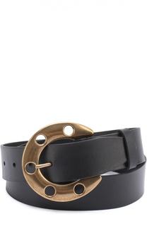 Кожаный ремень с металлической пряжкой в виде подковы Dolce & Gabbana