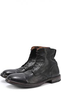 Высокие кожаные ботинки с круглым мысом Moma