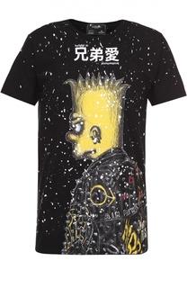 Хлопковая футболка с принтом Dom Rebel
