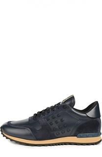 Кроссовки с кожаными вставками Valentino