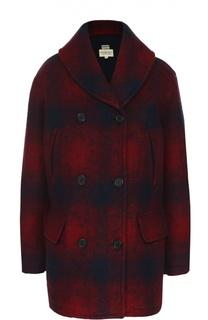 Двубортное пальто прямого кроя в клетку Denim&Supply by Ralph Lauren