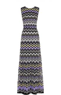 Приталенное платье-макси без рукавов с металлизированной отделкой M Missoni