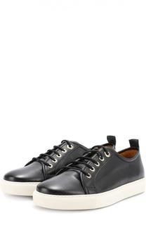 Кожаные кеды на шнуровке Ralph Lauren