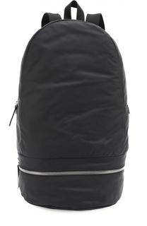 Кожаный рюкзак с шерстяной отделкой Z Zegna