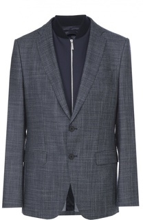 Шерстяной пиджак с подстежкой BOSS