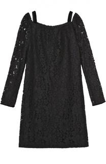 Кружевное платье прямого кроя с открытыми плечами See by Chloé