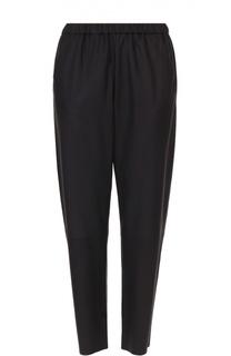 Замшевые укороченные брюки с эластичным поясом DROMe
