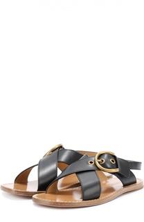 Сандалии из натуральной кожи с пряжкой Marc Jacobs