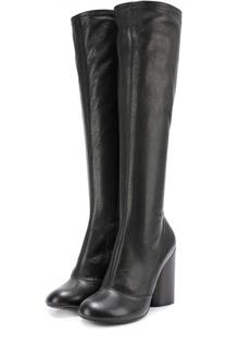 Кожаные сапоги на массивном каблуке Marc Jacobs
