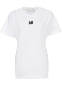Удлиненная футболка свободного кроя с контрастной надписью Walk of Shame