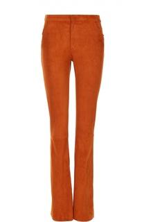 Замшевые расклешенные брюки с карманами DROMe