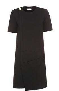 Мини-платье асимметричного кроя с коротким рукавом Balenciaga