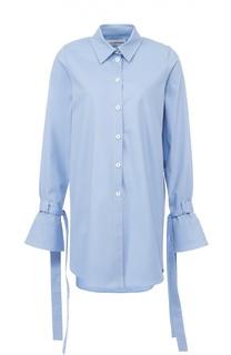 Удлиненная блуза с расклешенными рукавами и бантами Walk of Shame