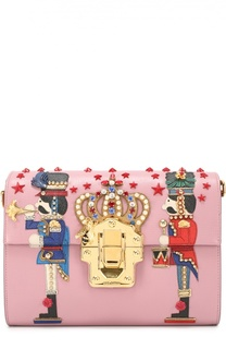 Сумка Lucia с аппликациями и отделкой стразами Dolce & Gabbana