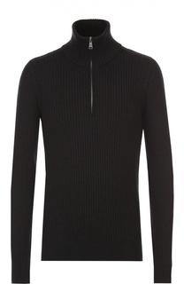 Шерстяной свитер фактурной вязки с воротником на молнии Dolce & Gabbana