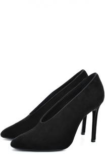 Замшевые туфли на шпильке Lanvin