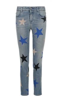 Укороченные джинсы-скинни с принтом в виде звезд Stella McCartney