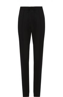 Шерстяные брюки прямого кроя с поясом на резинке Valentino