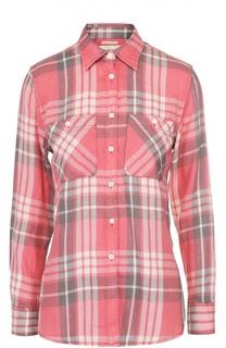 Блуза прямого кроя в клетку с накладными карманами Denim&Supply by Ralph Lauren