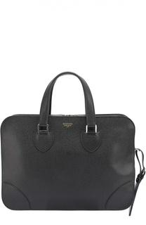 Кожаная сумка для ноутбука с плечевым ремнем Bertoni