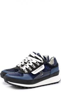 Комбинированные кроссовки с пайетками Dsquared2