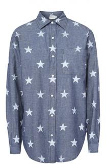 Джинсовая блуза прямого кроя с принтом в виде звезд Denim&Supply by Ralph Lauren