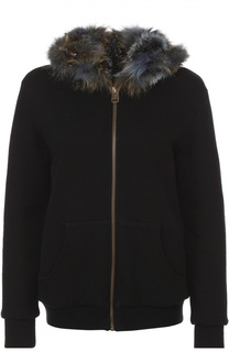 Куртка на молнии с меховой отделкой и капюшоном Mr&Mrs Italy