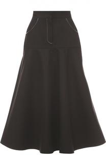 Расклешенная юбка-миди с карманами Walk of Shame