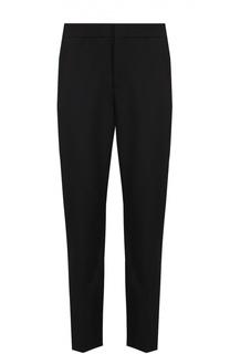 Шерстяные брюки прямого кроя с контрастными лампасами MSGM