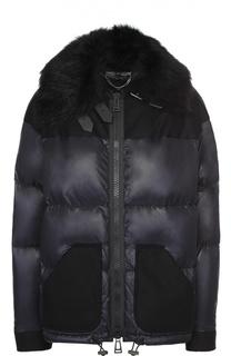 Пуховая куртка на молнии с меховой отделкой Belstaff