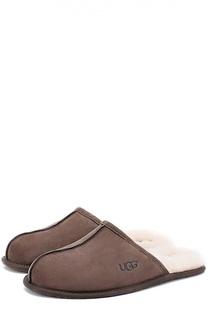 Замшевые домашние туфли с внутренней меховой отделкой UGG Australia