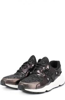 Комбинированные кроссовки с заклепками Ash