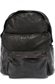 Кожаный рюкзак с внешним карманом OXS rubber soul