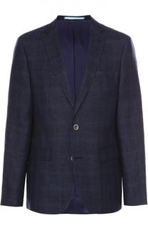 Однобортный пиджак из смеси шерсти и льна Sand